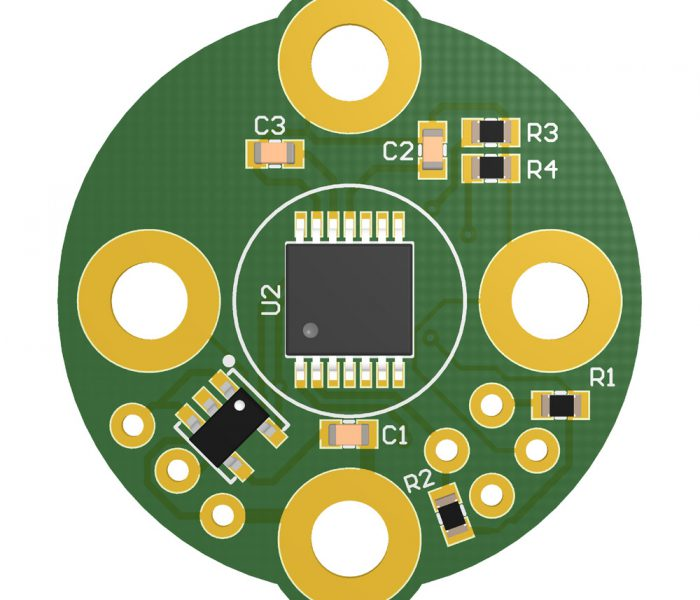 AS5048B — on-axis magnetic encoder